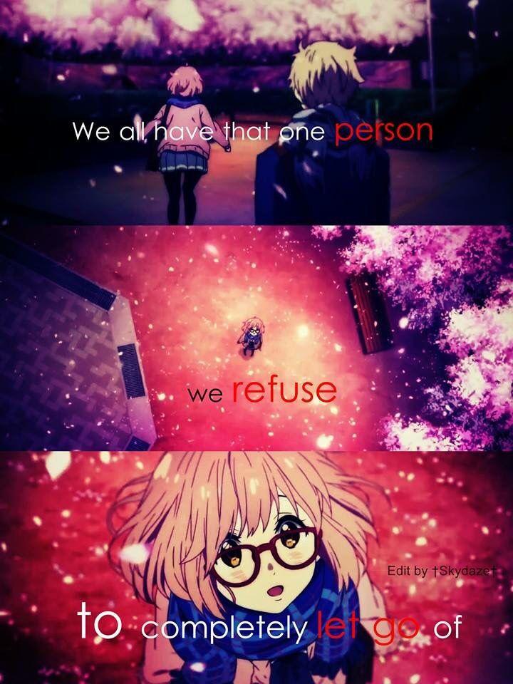 Kyoukai No Kanata | quotes | Pinterest | Anime, Manga and Manga quotes