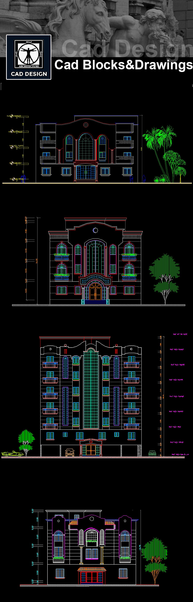 download building elevation facade design drawings now https