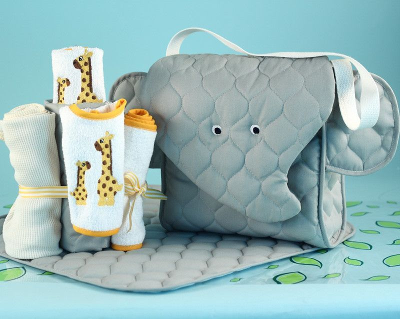 Bring the gift of a lifetime to a baby shower and bring a smile to going on safari elephant diaper tote baby gift set silly phillie negle Image collections