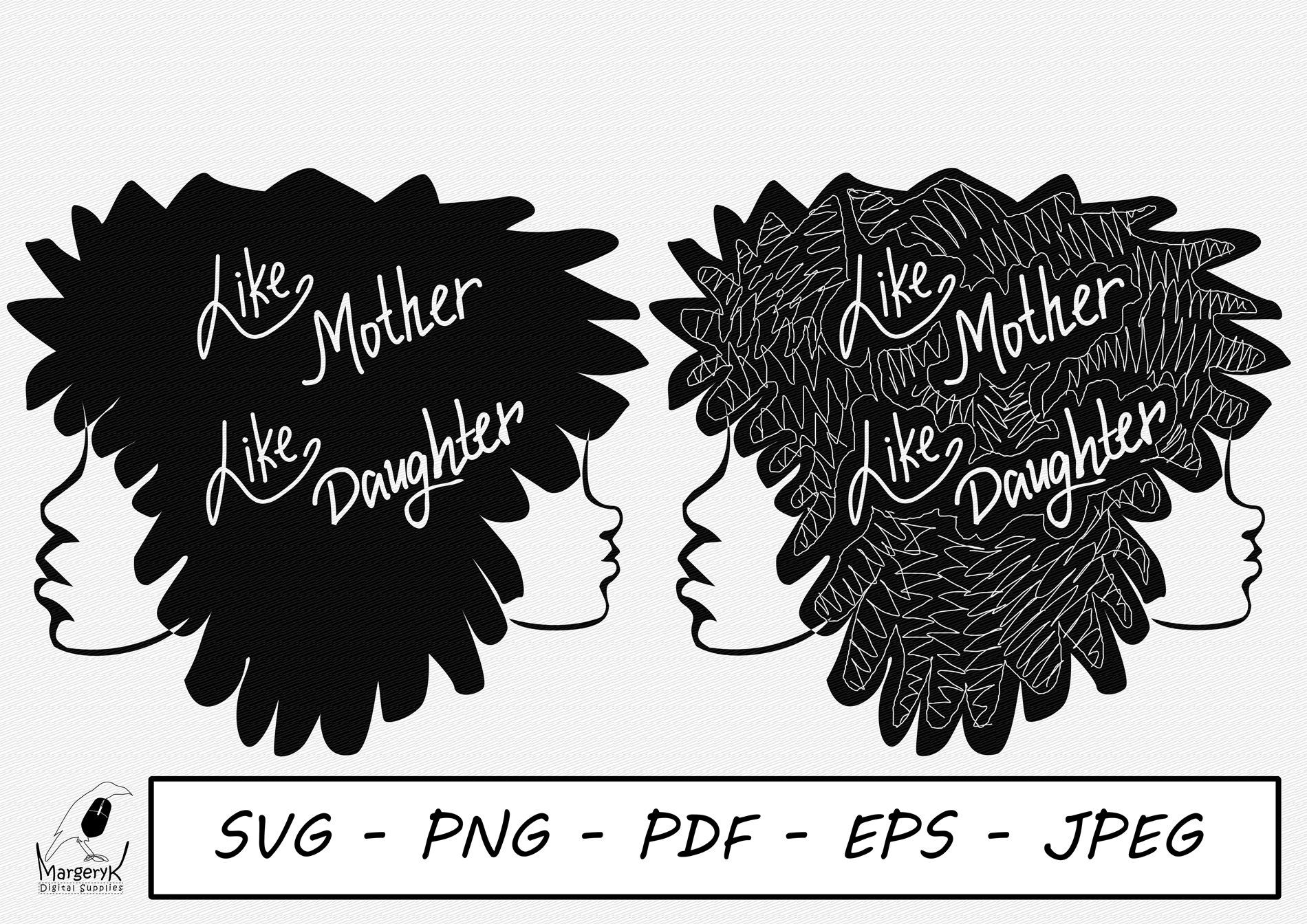 Free Mother day badge icons png svg eps ics and icon font are available. Like Mother Like Daughter Svg Mothers Day Svg Matching Mother Etsy Tattoos For Daughters African Queen Tattoo Father Daughter Tattoos SVG, PNG, EPS, DXF File
