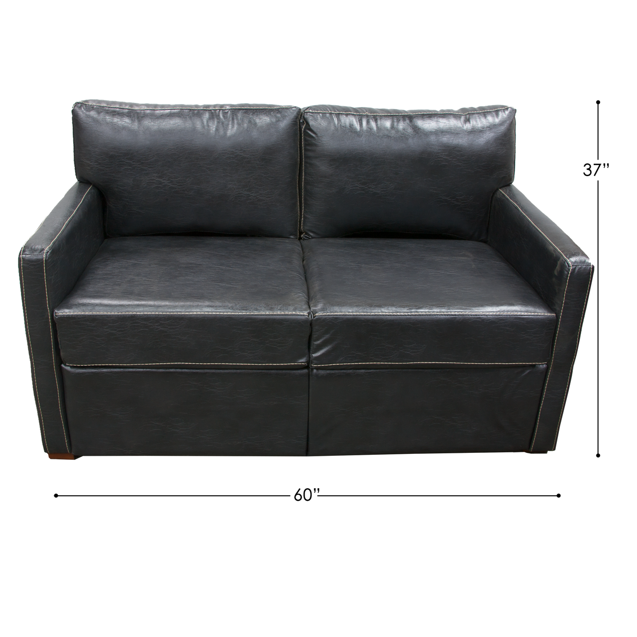 RV Black Trifold Sleeper Sofa   RV Parts Nation   Black ...