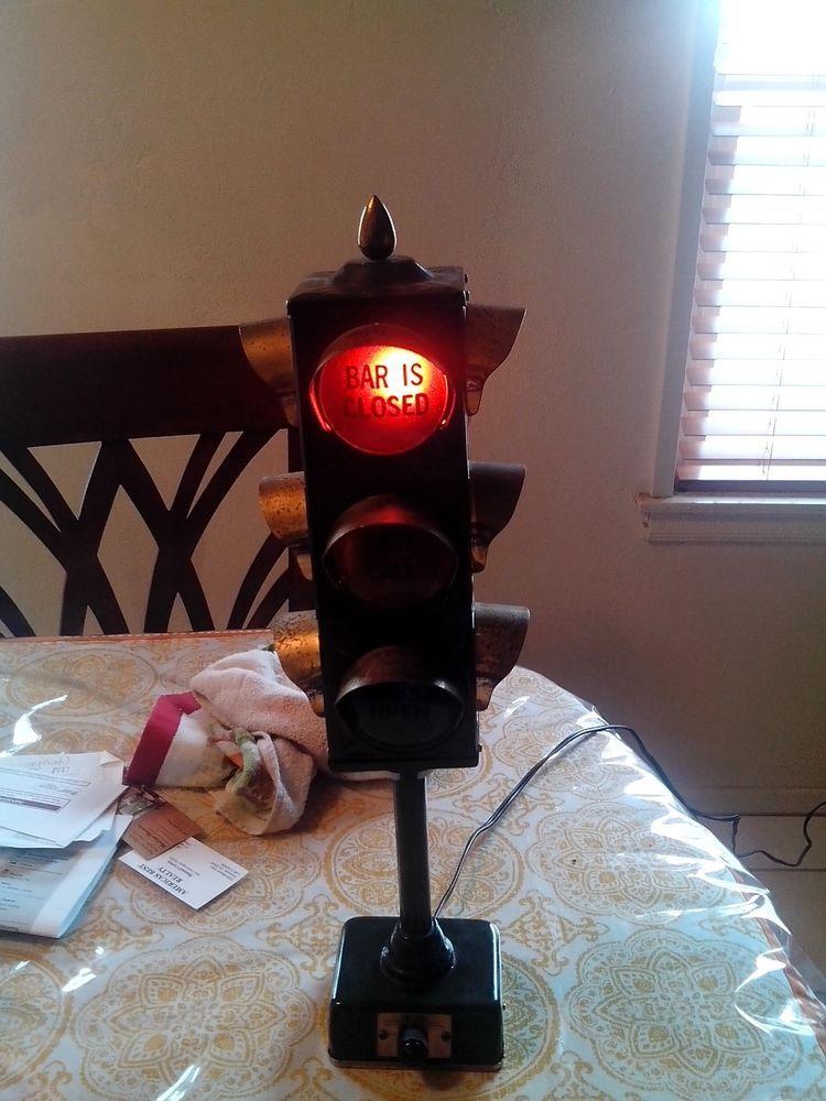 Vintage Traffic Signal Bar Lamp Lamp Traffic Signal Table Lamp