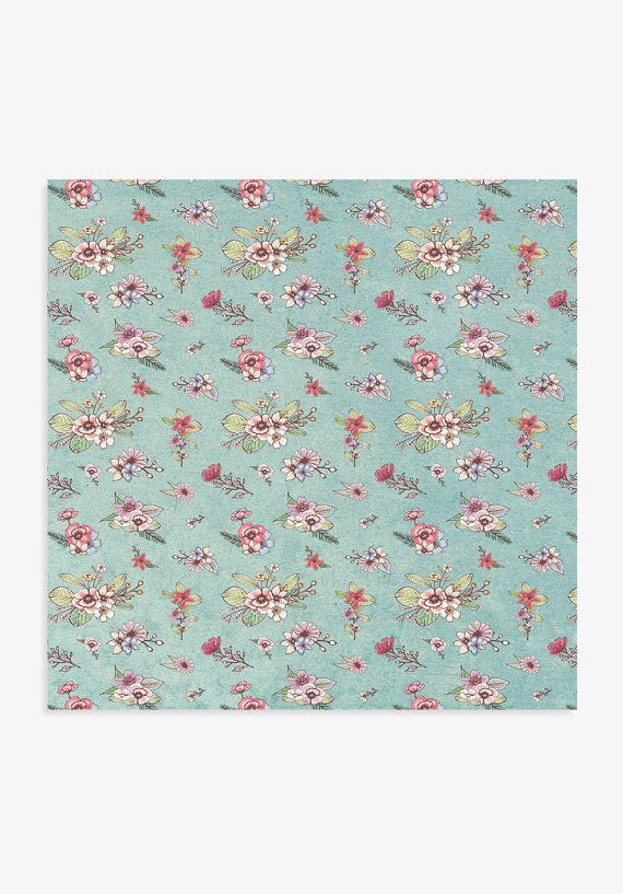 Cardstock Paper Flowers Pattern No 6 6x6 Sheet Craft By Limick