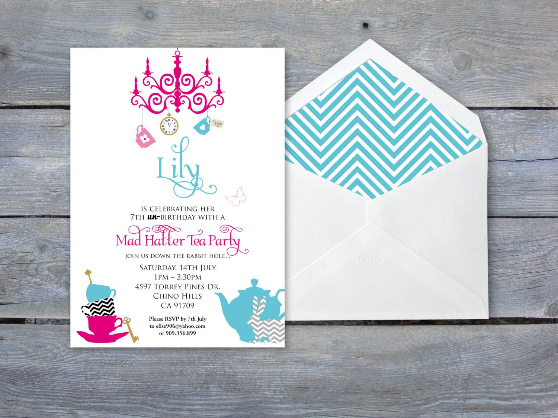 ALICE in Wonderland Invitation - 7\