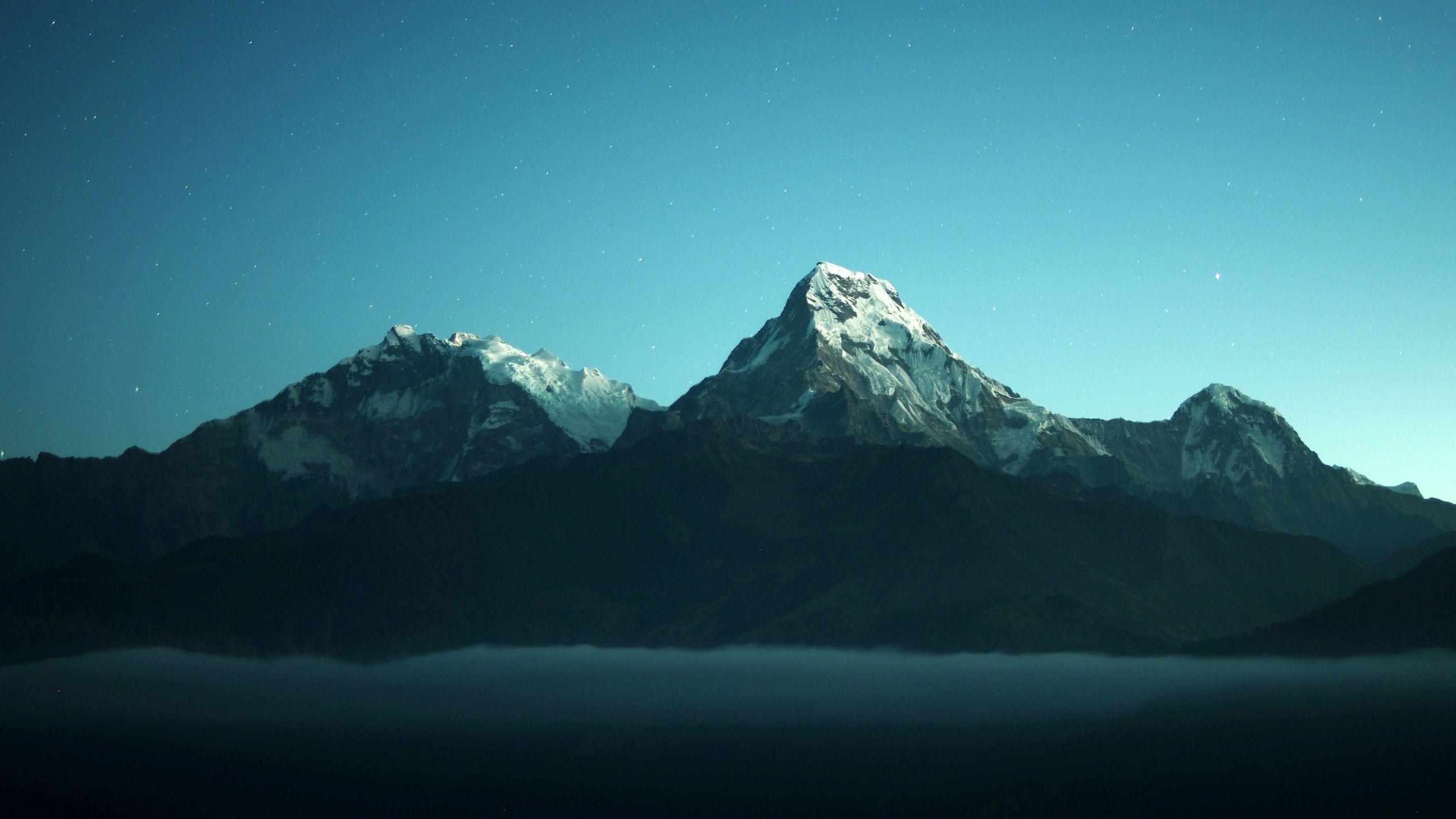 Annapurna Massif In Nepal 5k 2560 1440 Windows Wallpaper