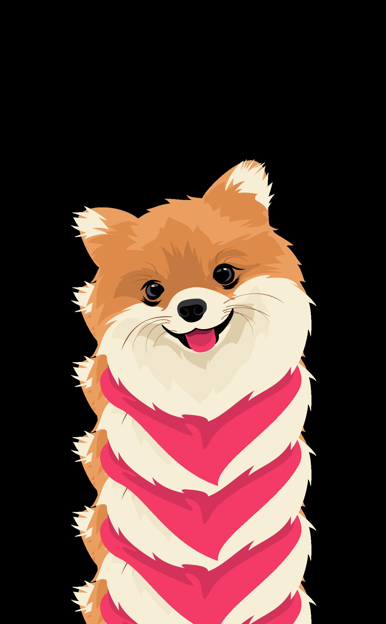 12 9 Inch Ipad Pro Folio Case Cute Pomeranian Dog Clear Ipad Case For Dog Lovers By The Little Cute Dog Cartoon Dog Illustration Cute Dog Wallpaper