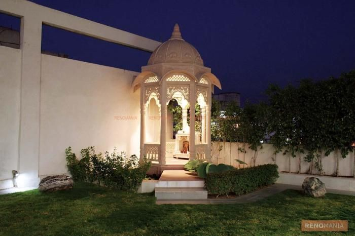 Elegant Outdoor Mandir | Pooja room | Puja room, Pooja ...