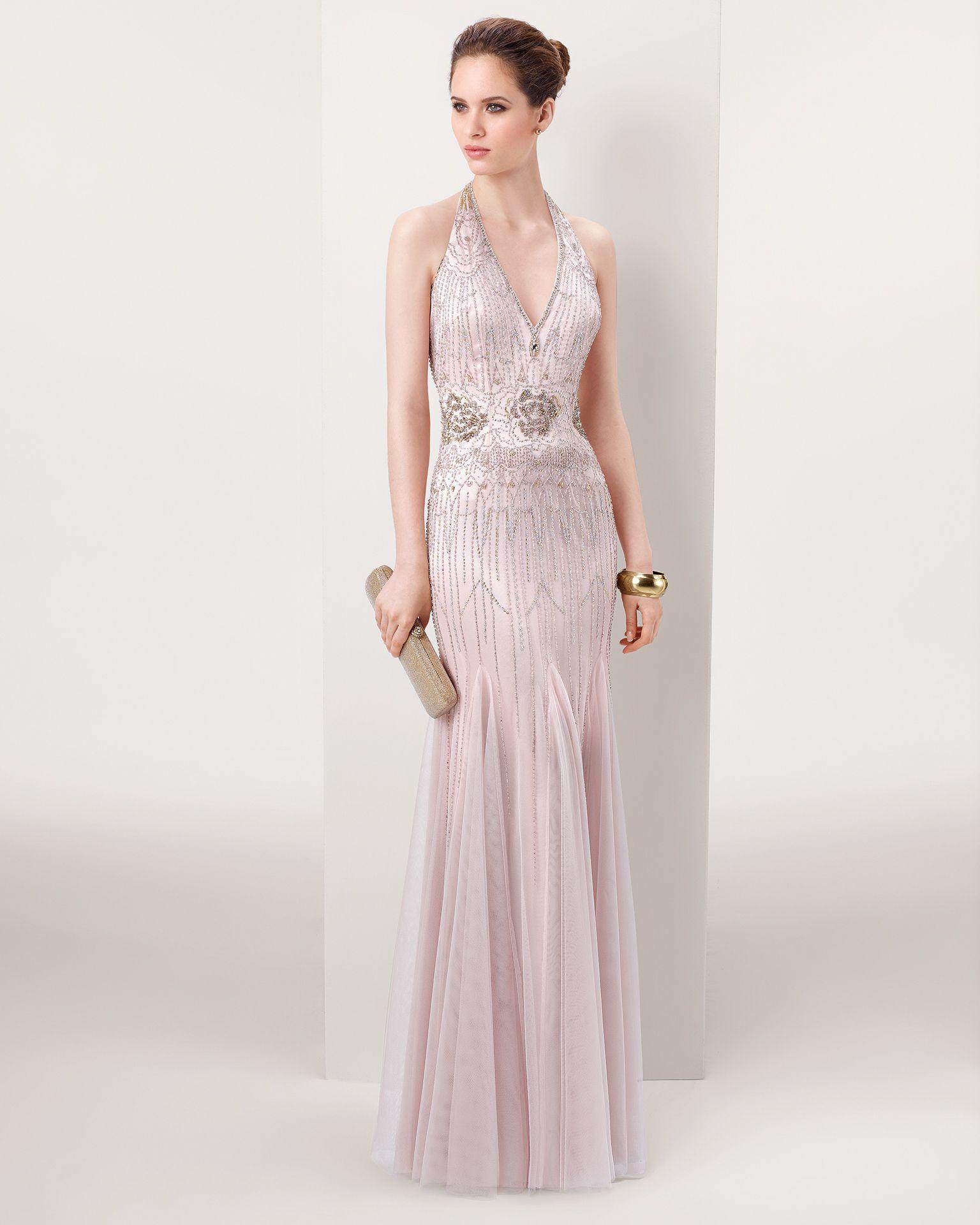 Vestidos de fiesta rosa maquillaje
