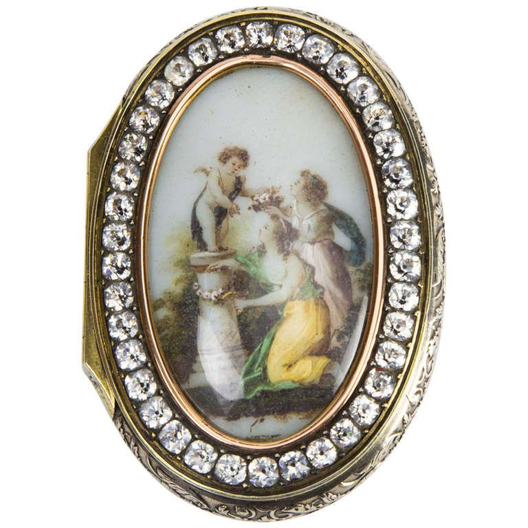 Antique Silver Gilt Memorial Cupid Box Sweden | From A Unique Collection Of  Antique And Modern