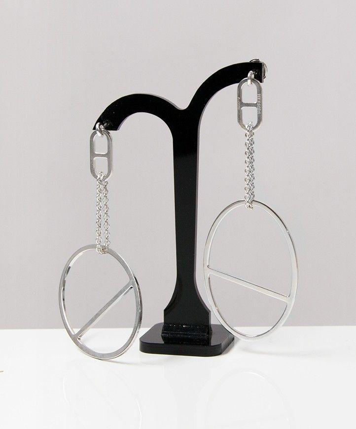 e00679f246ea Hermes Azur Silver Earrings