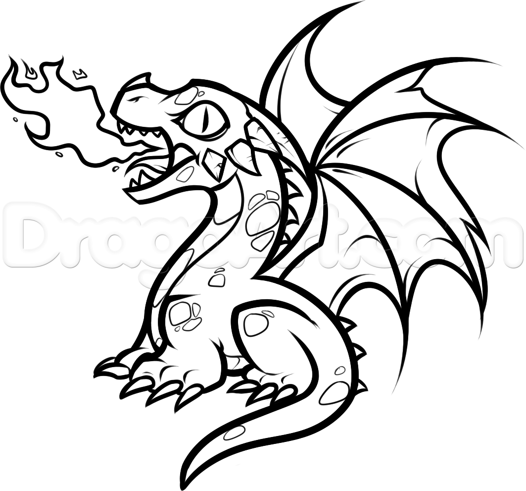 How To Draw A Baby Fire Breathing Dragon Step 11