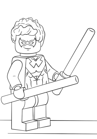 Lego Nightwing Coloring Page Lego Coloring Pages Batman Coloring Pages Superhero Coloring Pages