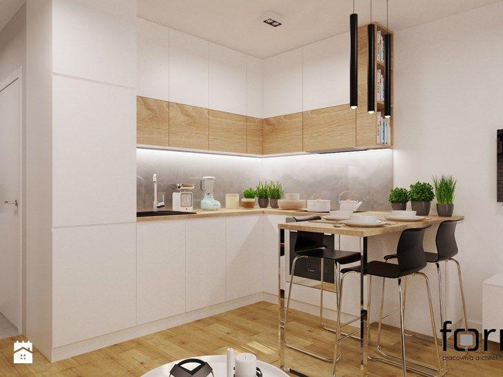 Mieszkanie Dąbie Park Mała Otwarta Kuchnia W Kształcie
