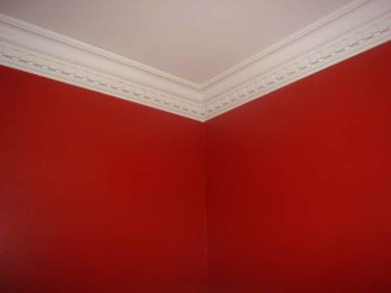 Easy Crown Molding Red Wall Color ~ http://modtopiastudio.com/creating
