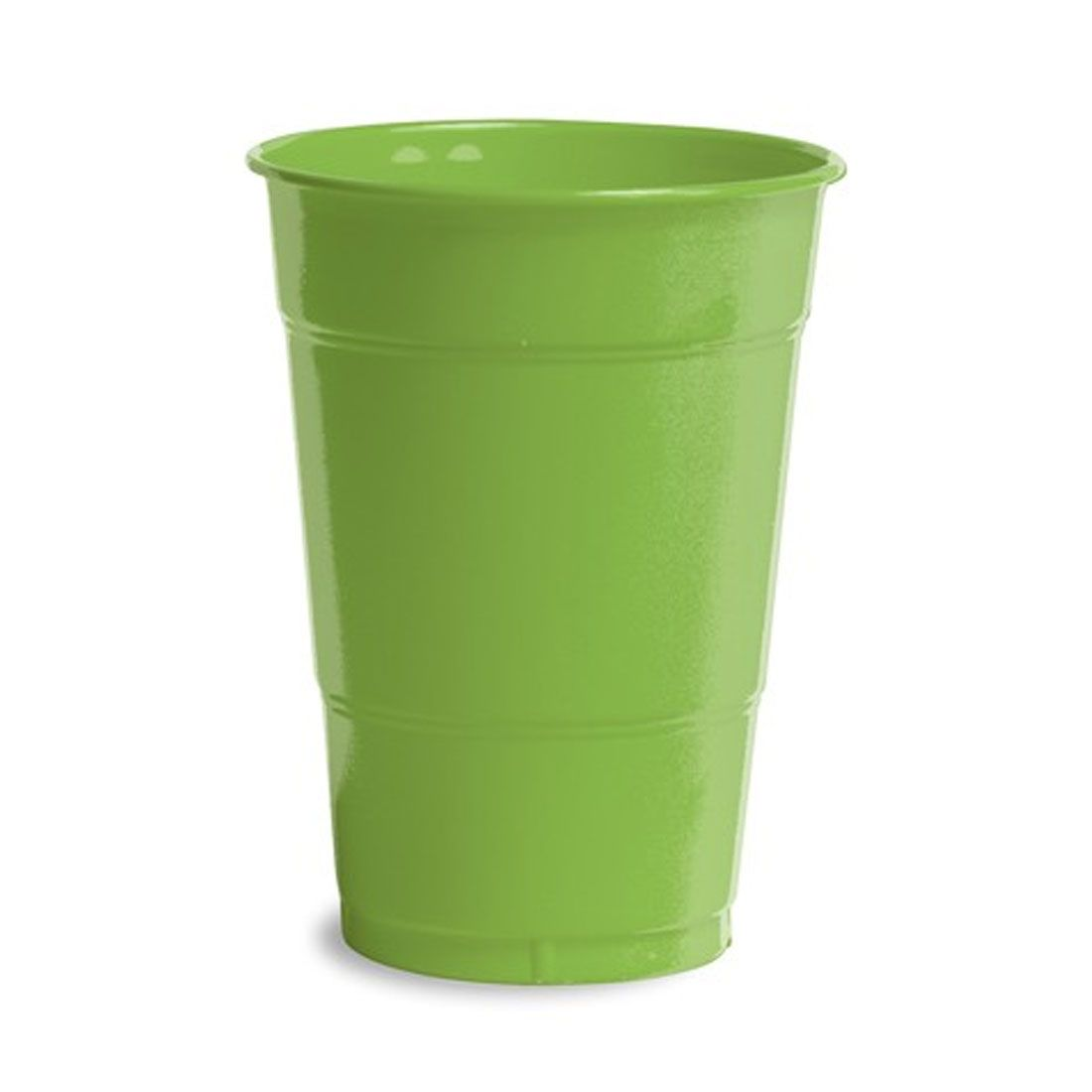 16 oz Solid Plastic Cups Fresh Lime/Case of 240