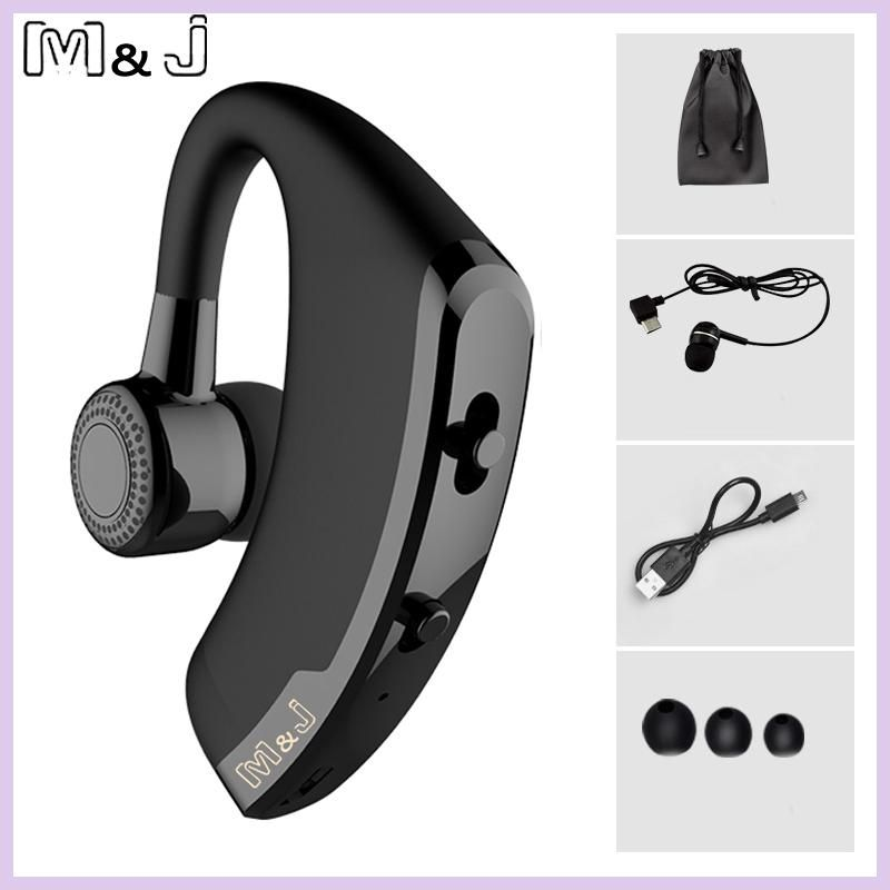 49e41cc5593 M&J V9 Handsfree Business Bluetooth Headphone With Mic Voice Control Wireless  Bluetooth Headset For Drive Noise