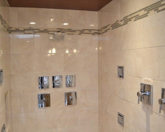 Striking Master Bathroom Design with Best Lighting Unit: Exciting Modern Bathroom Tile Backsplash Mahoney Master Bath