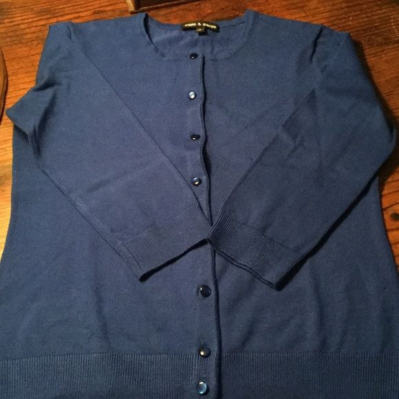 Royal Blue Cardigan Pretty royal blue button cardigan Cable & Gauge Sweaters Cardigans