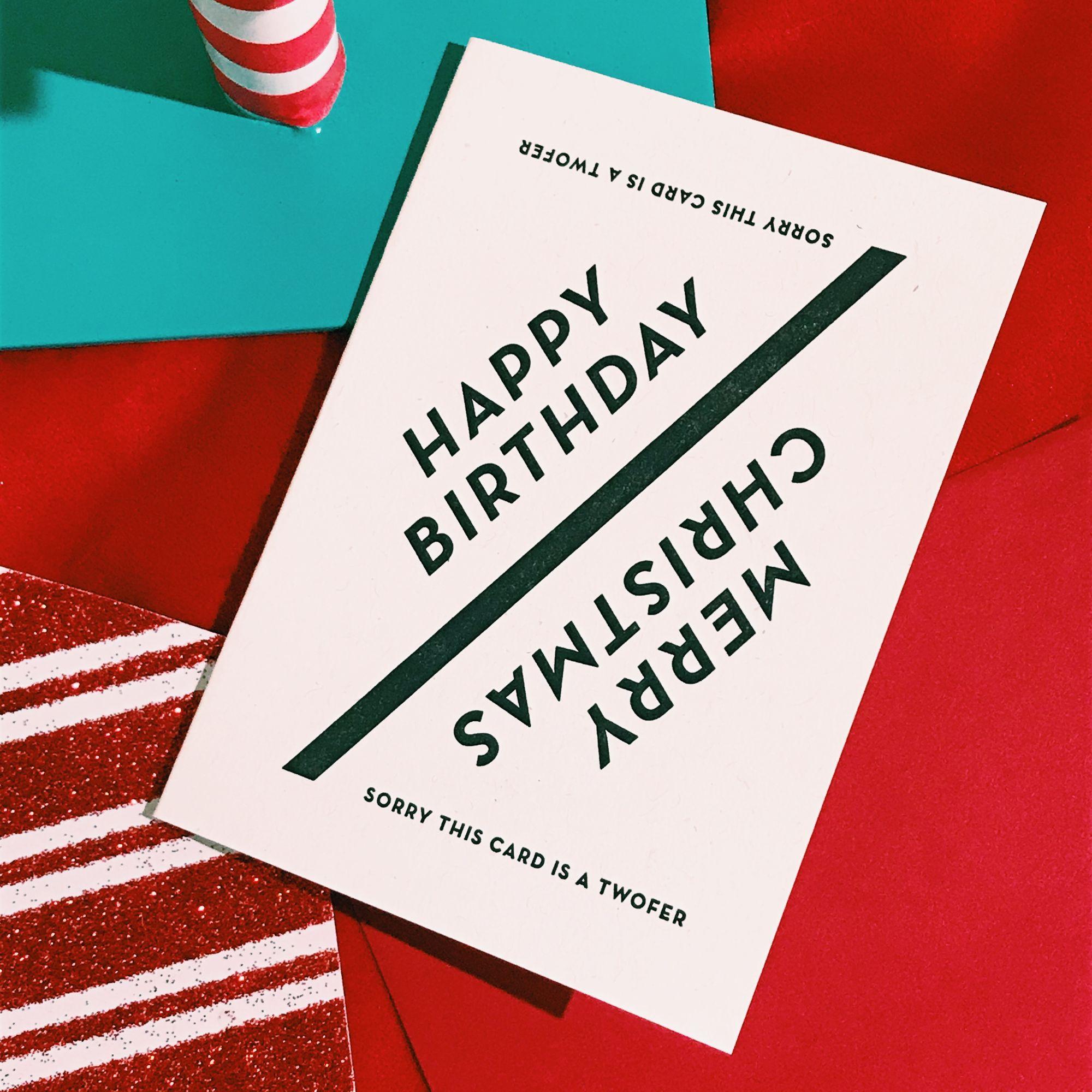 Christmas Birthday Card Constellation Co Christmas Birthday Cards Christmas Birthday Letterpress Cards
