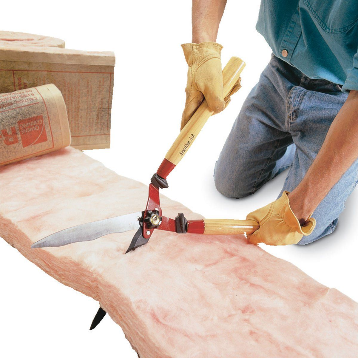 Garden shears turned insulation trimmer home insulation