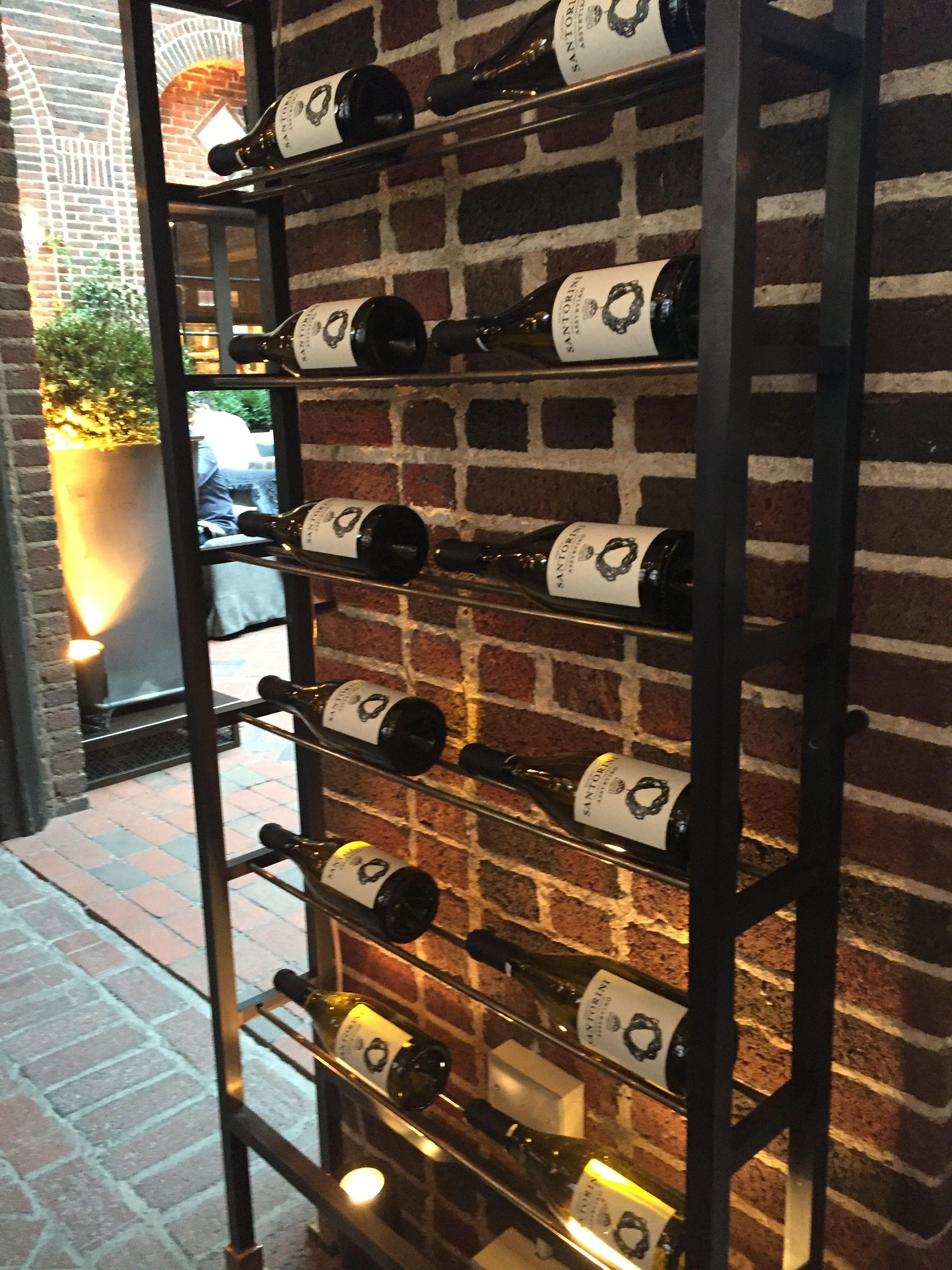 restoration hardware wine rack wine