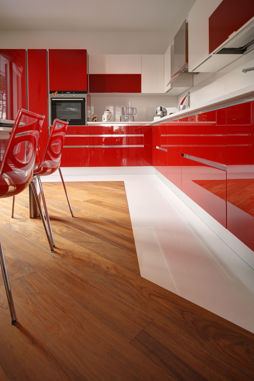 Parquet e ceramica in cucina #parquet | Parquet nel 2019 ...