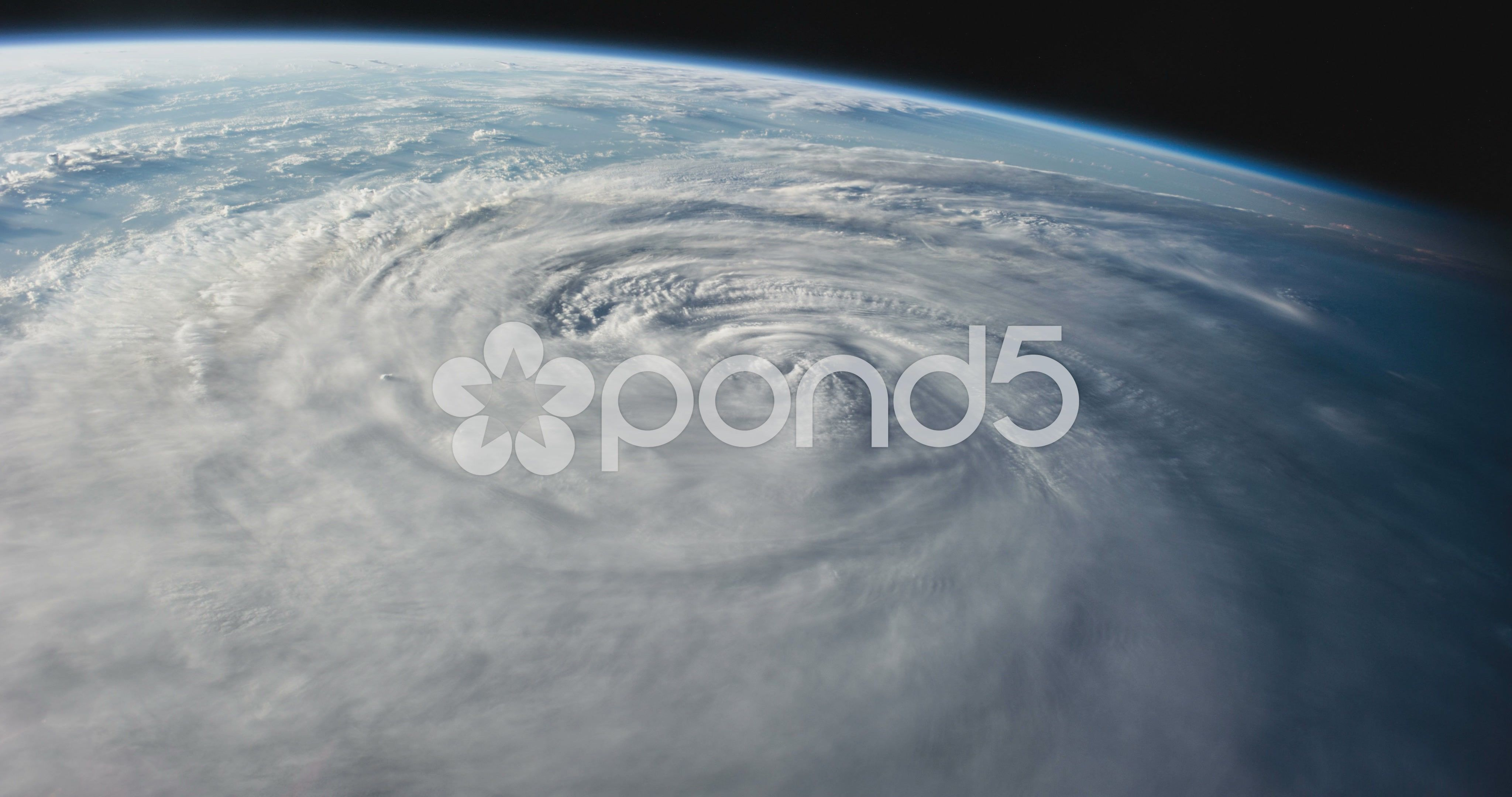 Hurricane From Space On Earth 4k Stock Footage Space Hurricane Earth Footage Earth Vintage Logo Design Stock Footage