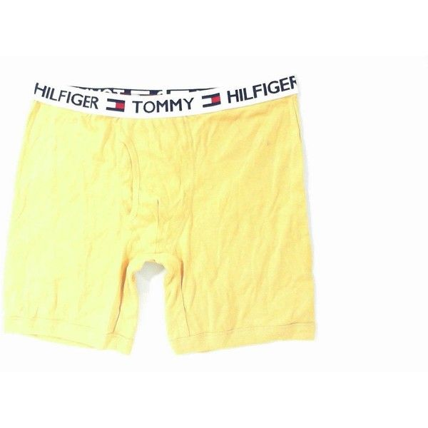 1d2678392320 TOMMY HILFIGER Mens L Boxer Brief Yellow Underwear Solid Designer CHOP... ❤  liked