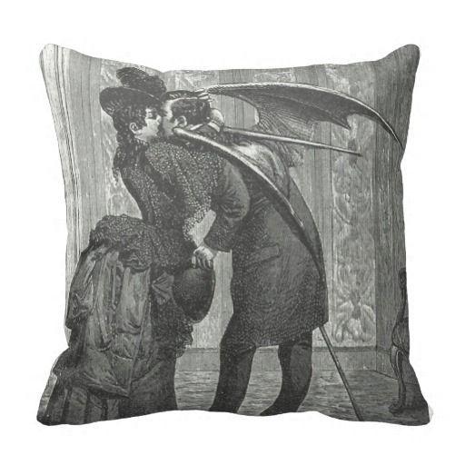 Vampire Kiss Victorian/Gothic Decorative Pillow | Zazzle.com