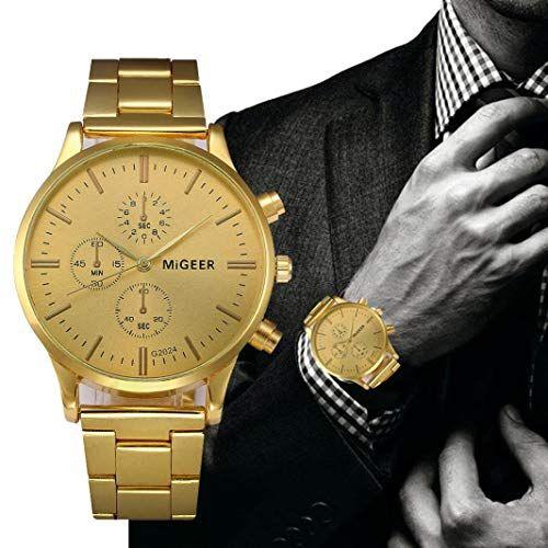 Mens Luxury Watch 3 Dial Business Fashion Golder Analog Wrist Watch Zulmaliu #luxurywatches