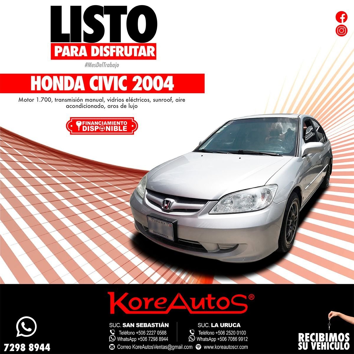 Honda Usados (With images) Honda civic 2004