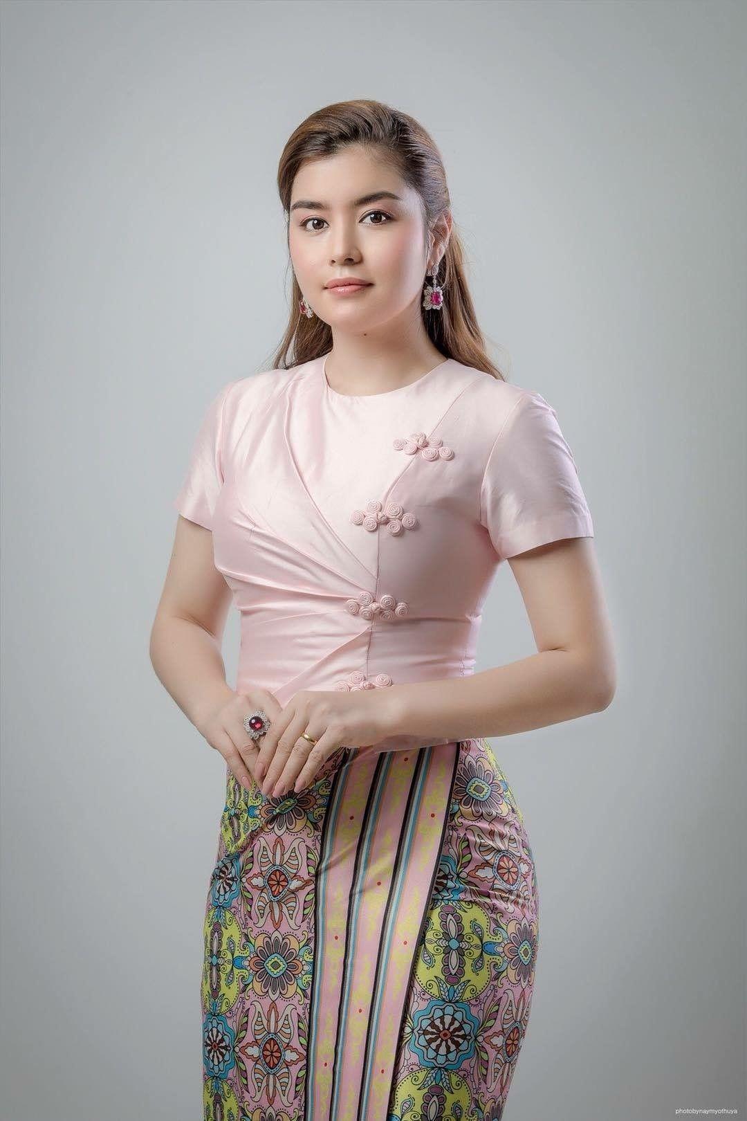 pincrysis afore on wrap  myanmar dress design