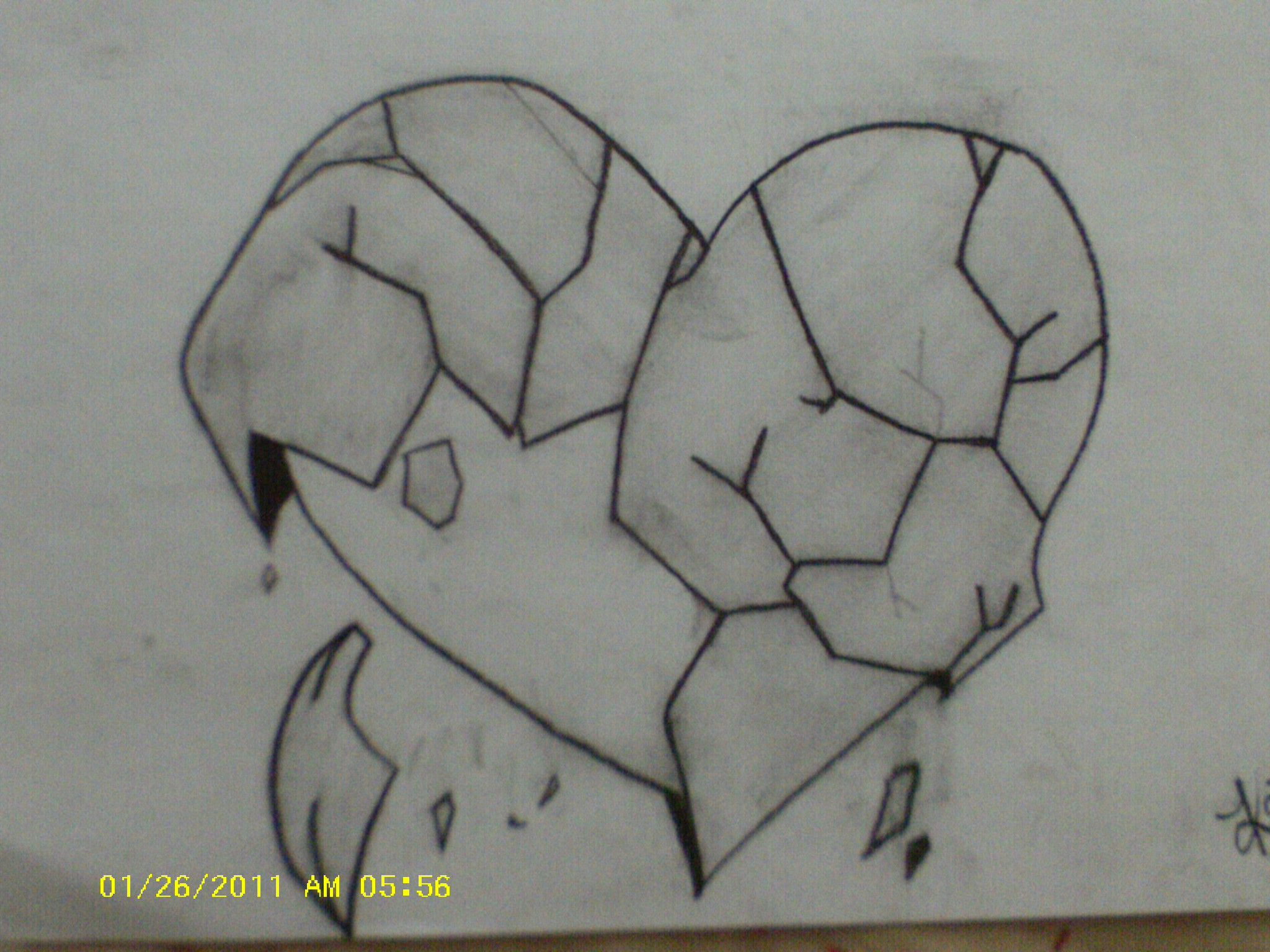 Easy pencil drawings of broken hearts 2015 sunson