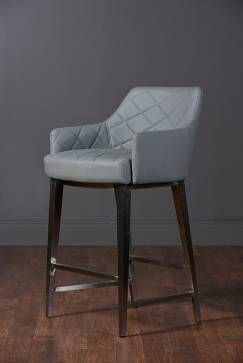 Swank Quilted Leather Counter Stool Mecox Gardens Leather