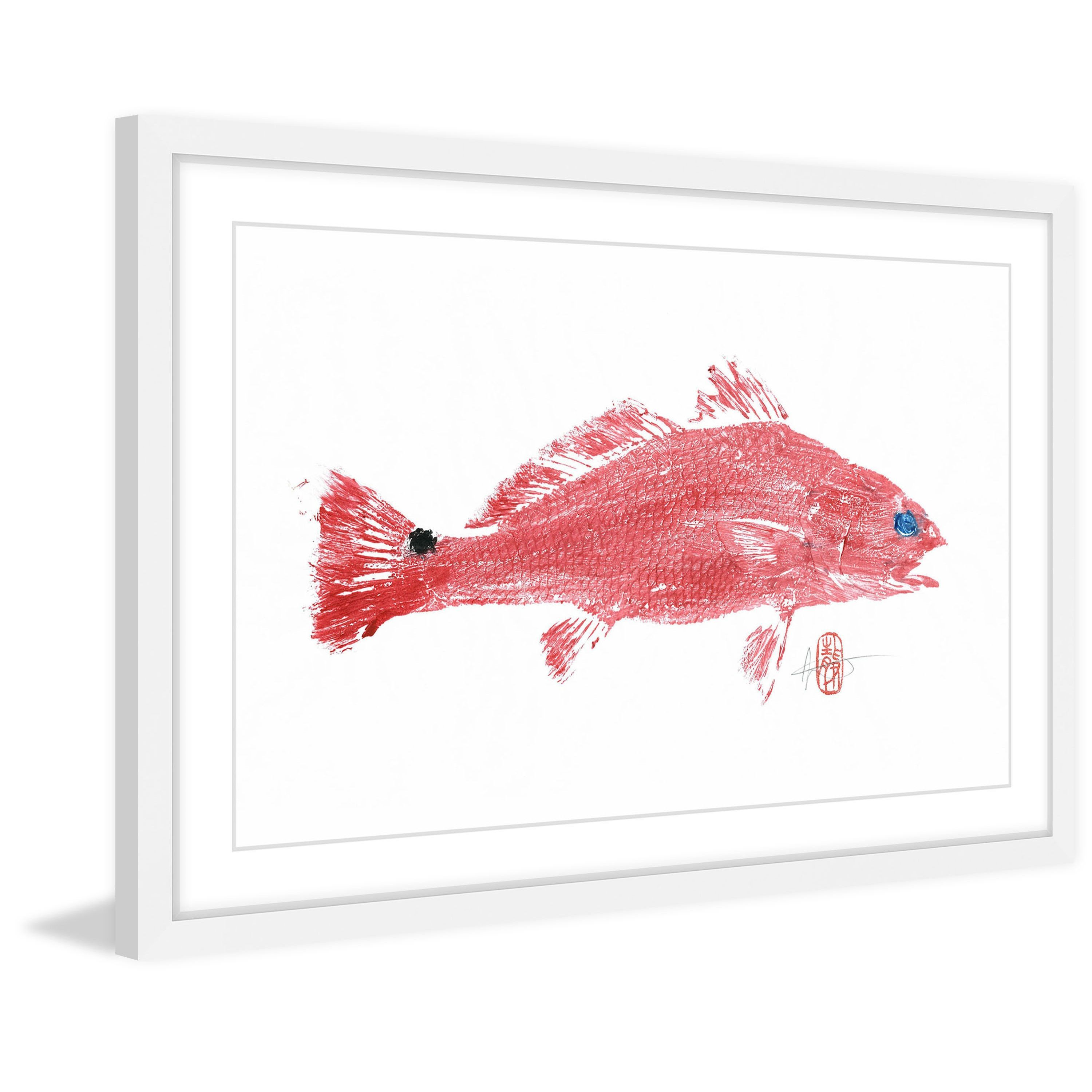 Red Fish\' Framed Painting Print | Fish art | Pinterest | Red fish ...