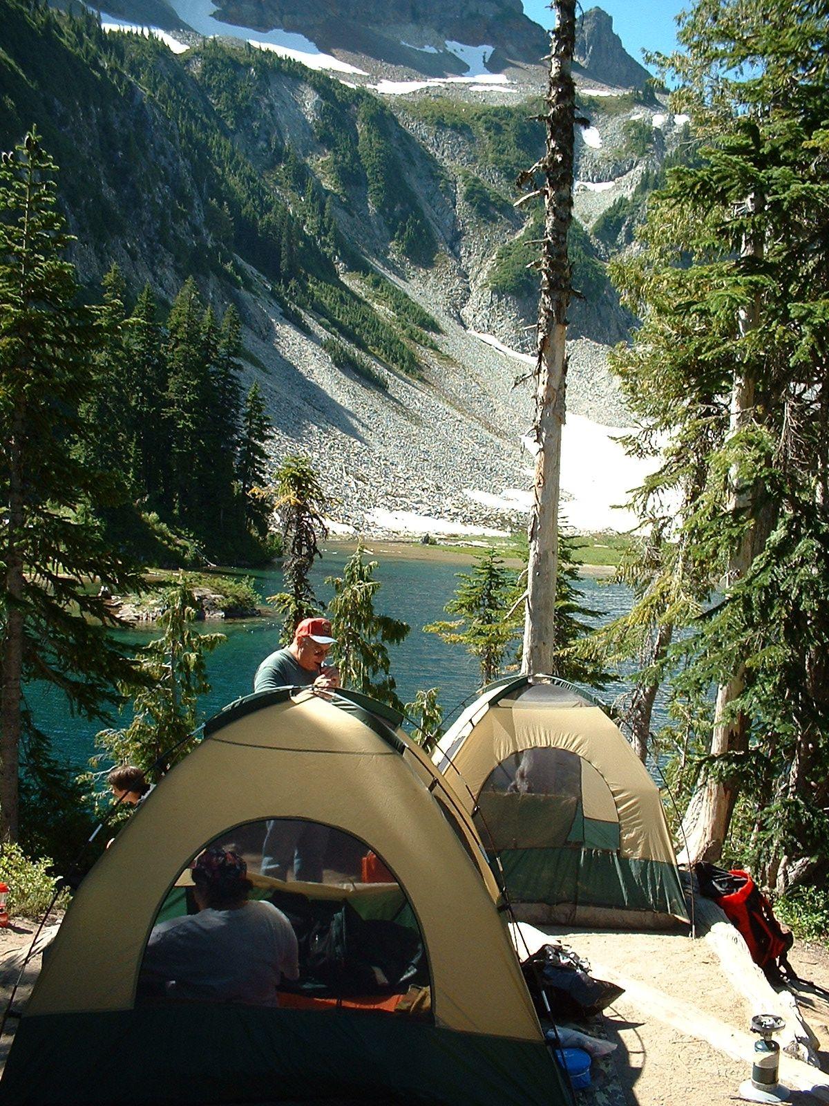 Snow Lake Camp Site Mt Rainier National Park Washington