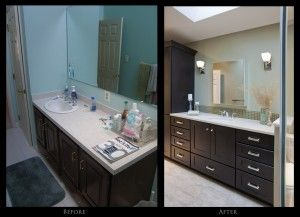 Guest Bath Before and After Views