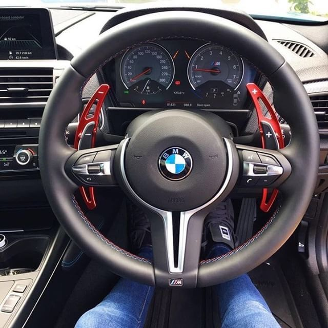 Red Alloy Steering Wheel Paddle Shifter Extension For Bmw M3 M4 M5