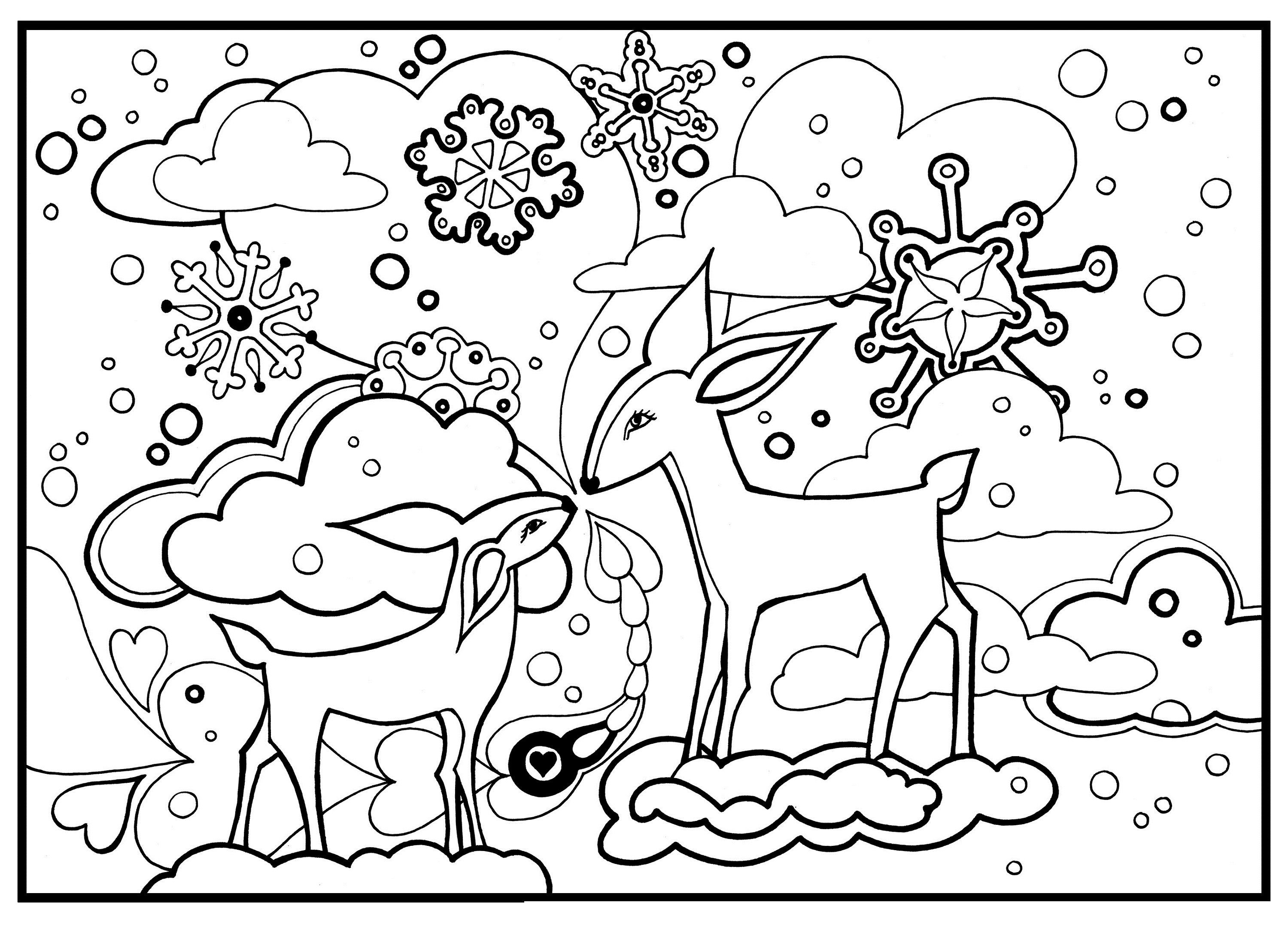 Free Coloring Pages Christmas Christmas Coloring Pages Animal Coloring Pages Coloring Pages Nature