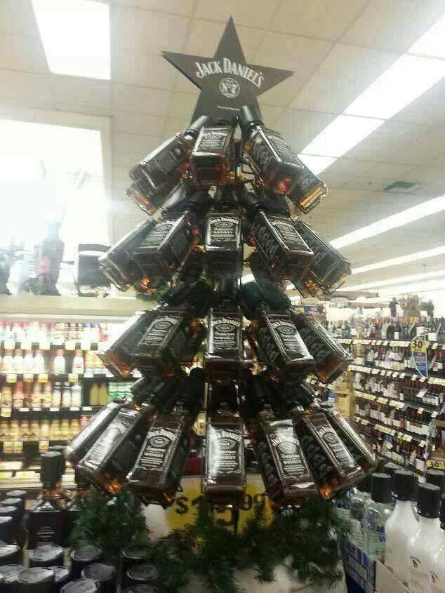 Jack Daniels Christmas tree