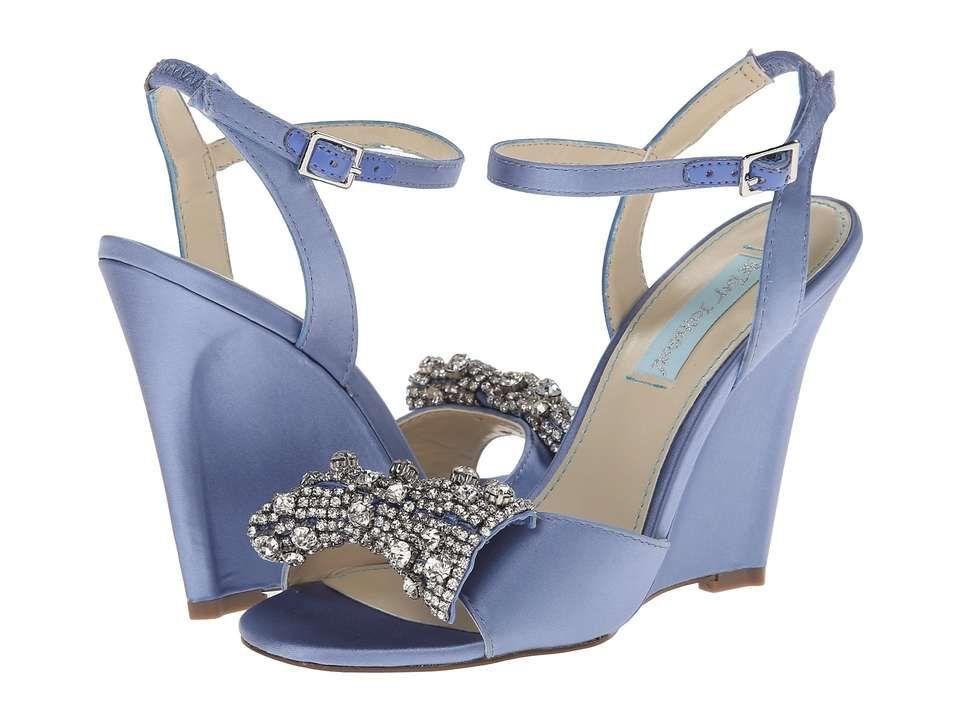 Blue By Betsey Johnson Dress Womenu0027s Wedge Shoes Blue Fabric : M