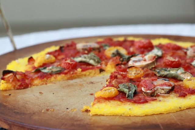 polenta pizza and an introduction!  dinner tonight - I can't imagine that its not a texture surprise and delight in my mouth