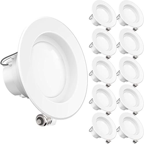 New Sunco Lighting 10 Pack 4 Inch Led Recessed Downlight Smooth Trim Dimmable 11w 40w 3000k Warm White 660 Lm Damp Rated Simple Retrofit Installation U In 2020 Wood Photo Frame Downlights Photo On Wood
