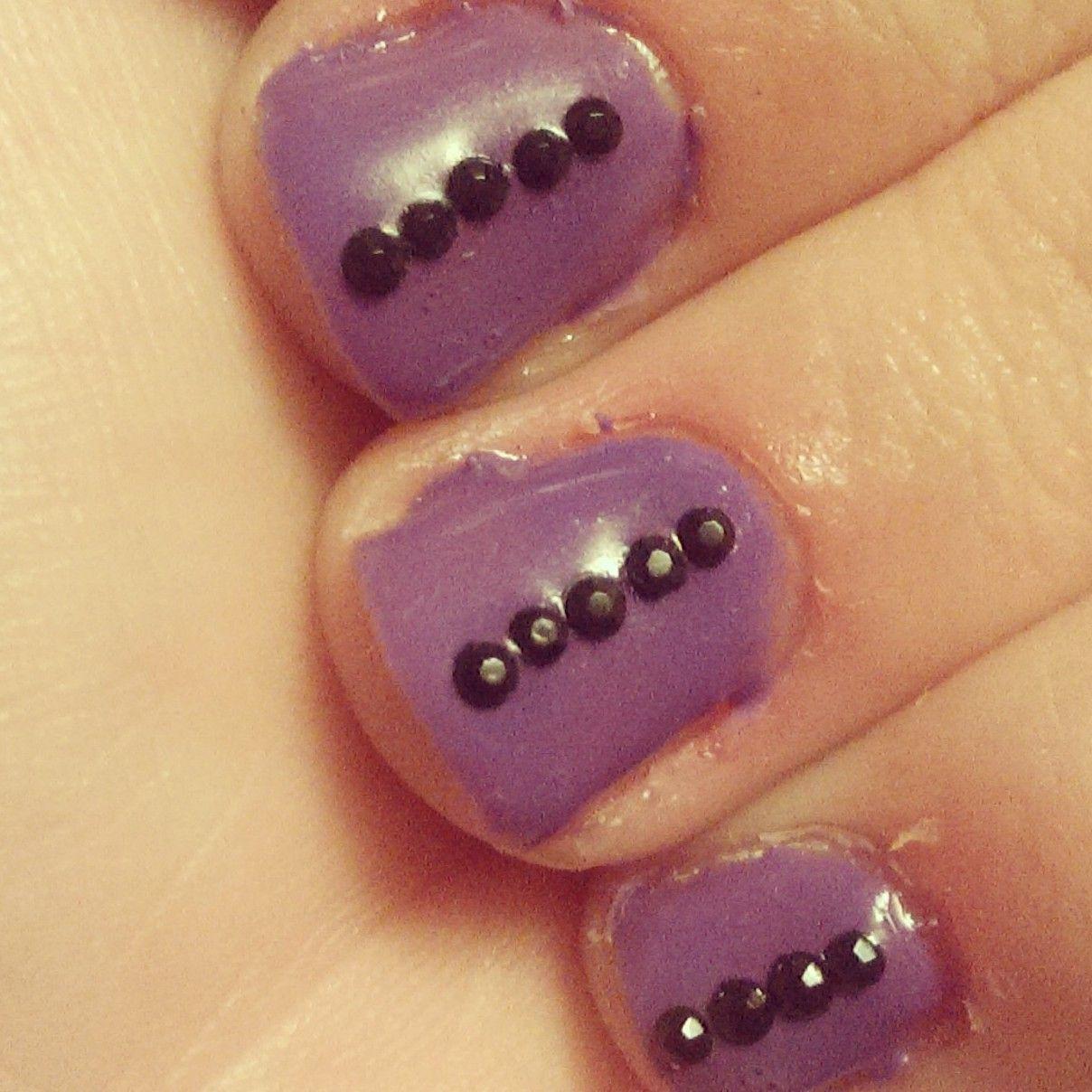 Week 17: marks the start of me using my gels again :) so purple gels ...