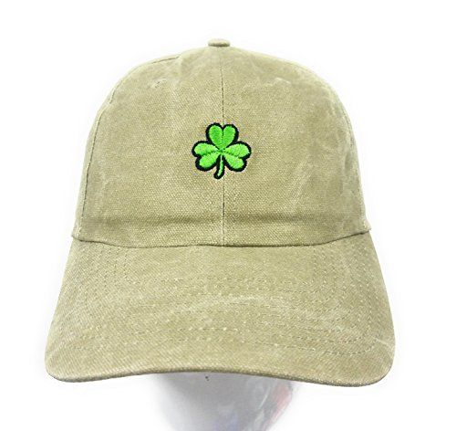 7a4861736e1 St. Patrick s Day Clover Dad Hat Baseball Cap Shamrock Hat Embroidered in  USA Shamrock Cap Collection