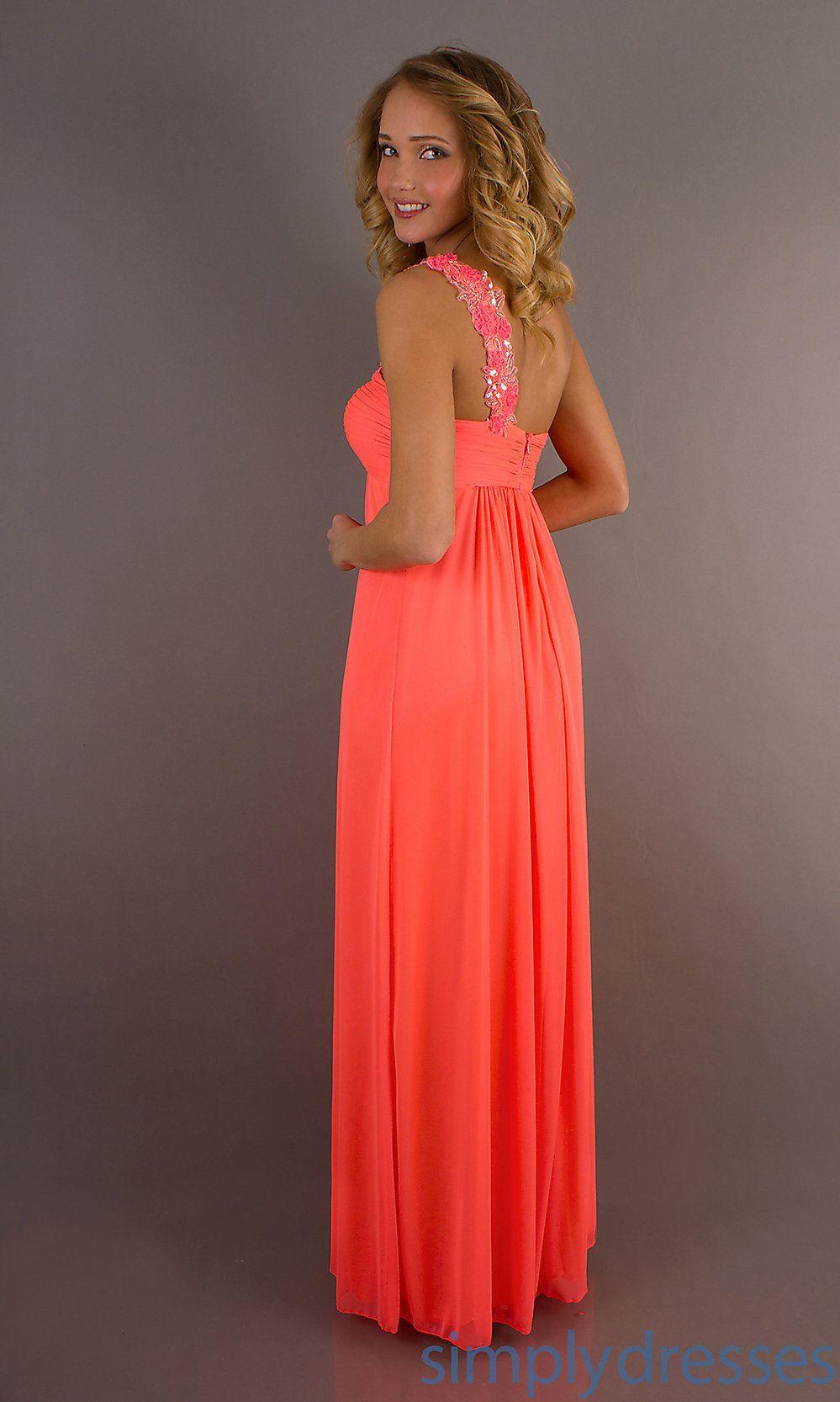 Neon coral chiffon promeveningbridesmaid dresses wedding 3 coral dress ombrellifo Gallery