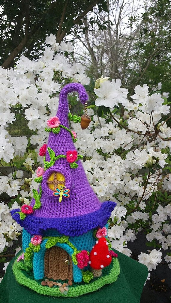 Handmade Crochet Fantasy Fairy or Gnome House OOAK by emcrafts ...
