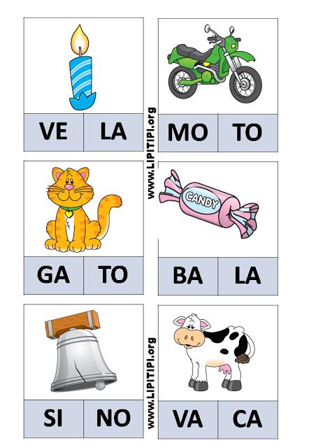 Favoritos Jogo Pedagógico Fichas com palavras de duas sílabas | Jogos  FJ75