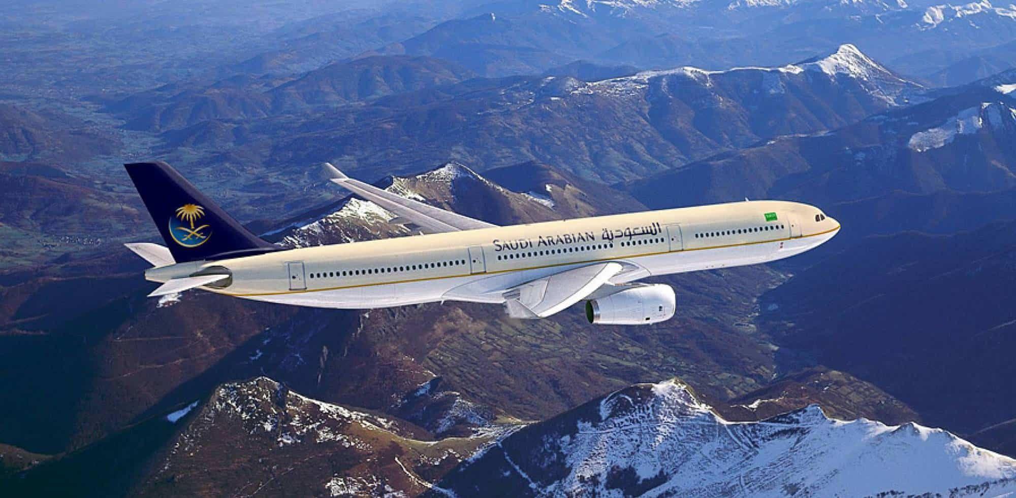 استمتع باجمل ترفيه علي درجات سفر الخطوط السعودية Passenger Passenger Jet Travel