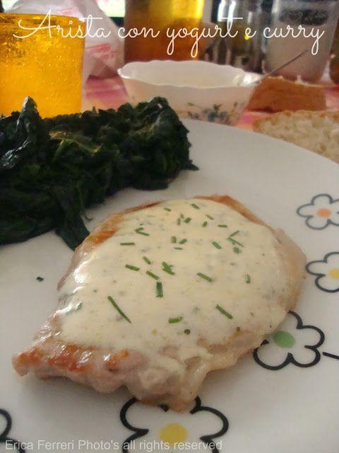 pork with curry and yogurt  sauce  - Arista allo yogurt e curry
